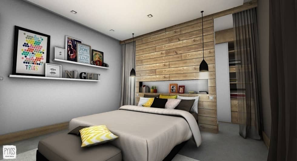 chambre parentale chambre de style de style moderne par pyxis home design homify. Black Bedroom Furniture Sets. Home Design Ideas