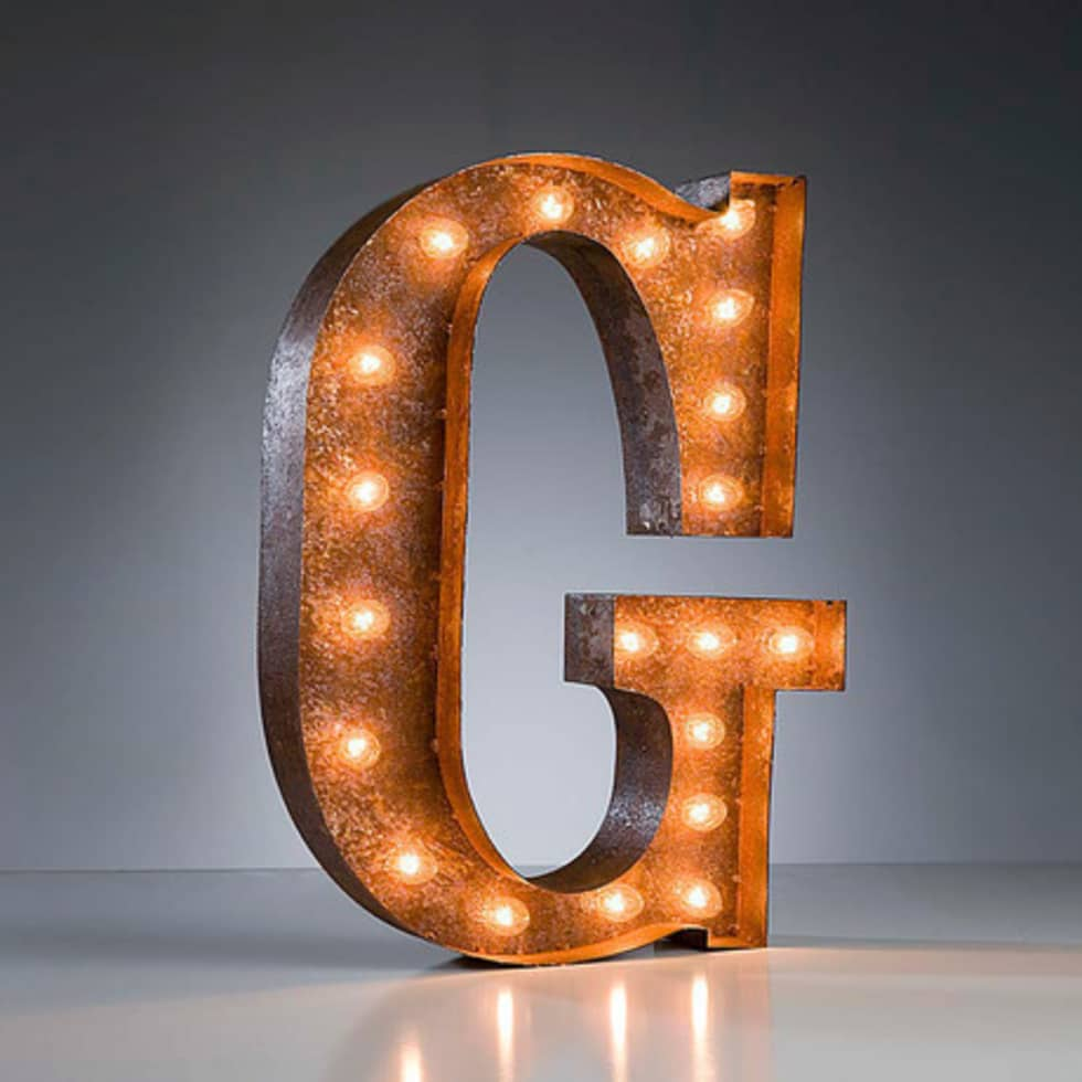 Industrial Style Light Up Letters: Interior Design Ideas, Architecture And Renovating Photos