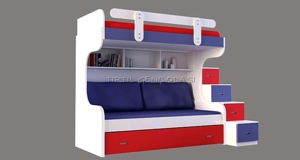 Tırtıl Genç ve Çocuk Odası – 13-03 Ranza: modern tarz Çocuk Odası
