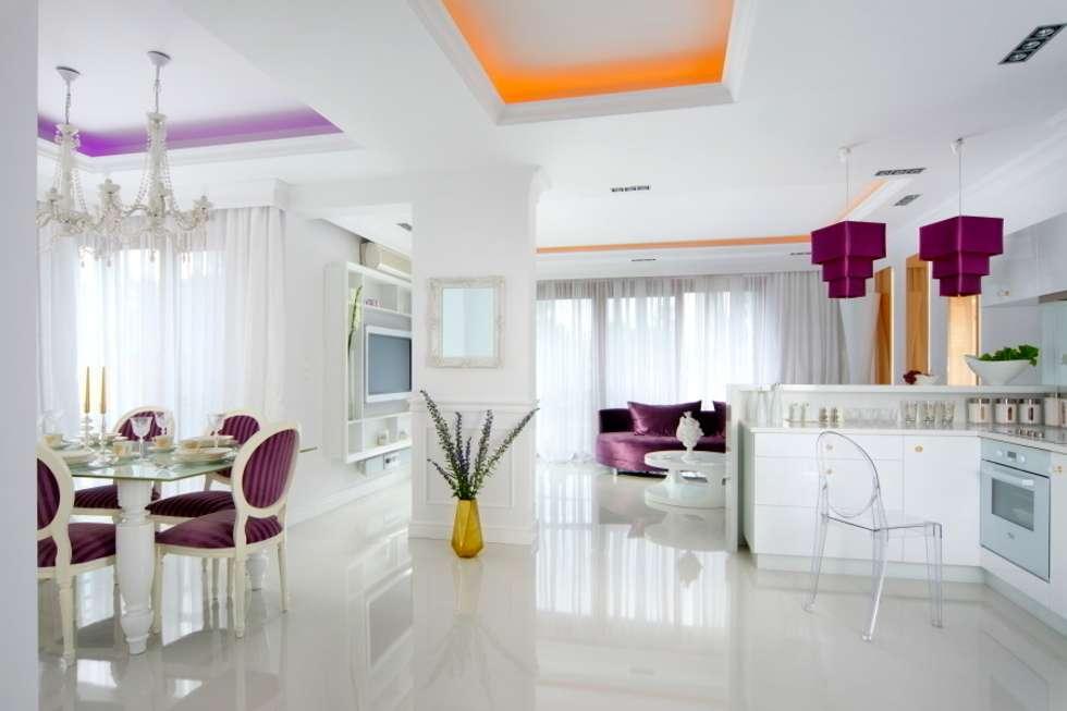 RYNIA APARTAMENT: styl , w kategorii Salon zaprojektowany przez livinghome wnętrza Katarzyna Sybilska