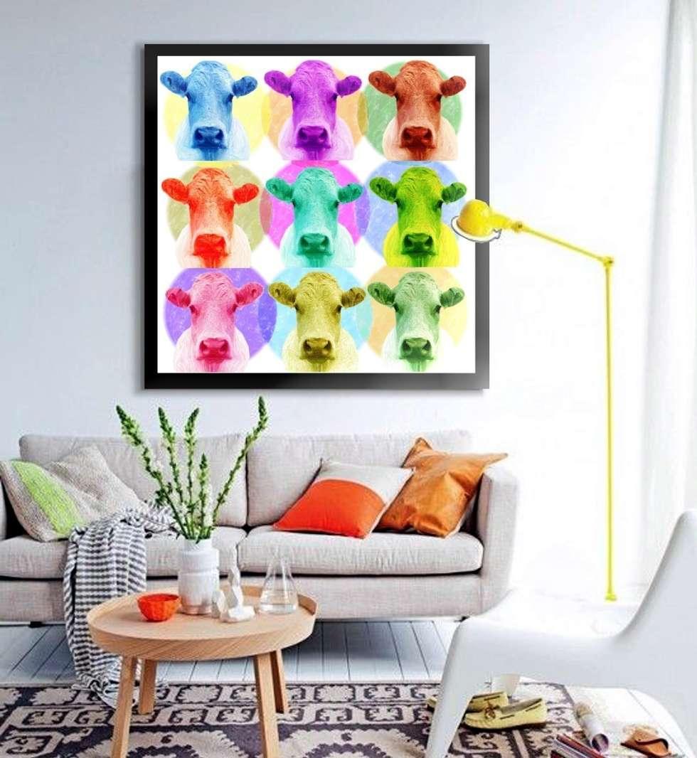 Fotos de decoraci n y dise o de interiores homify - Cuadros de vacas ...