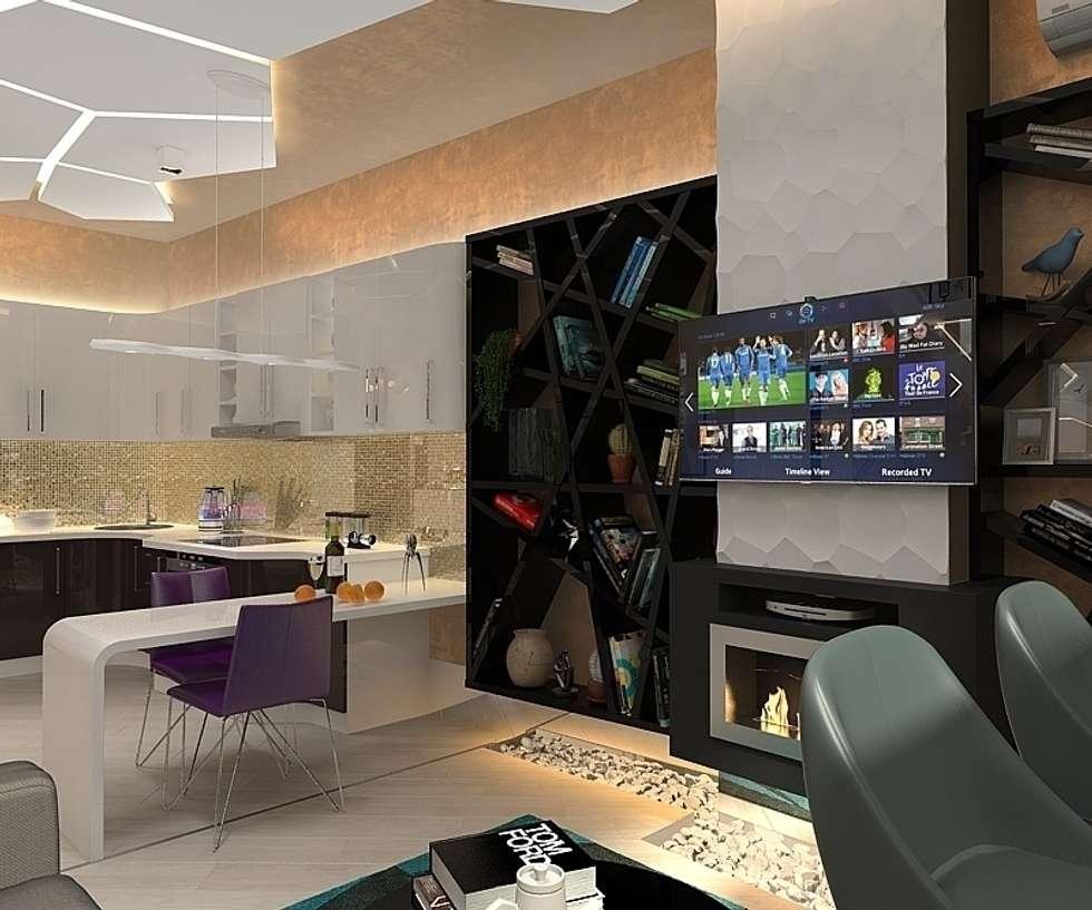 Квартира на Чертановской: Гостиная в . Автор – Design