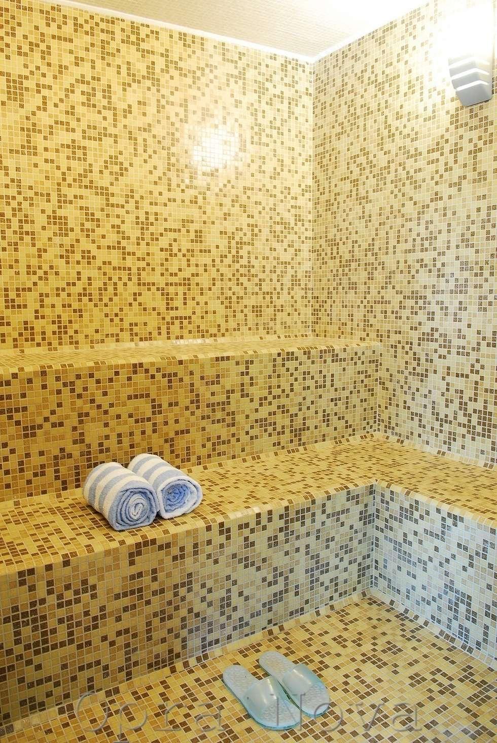 Baño Finlandes - SPA: Spa de estilo moderno por Opra Nova