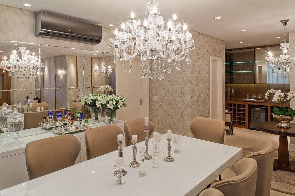 Sala De Jantar Branca De Luxo ~ Fotos de salas de jantar clássicas clássico ao luxo  homify