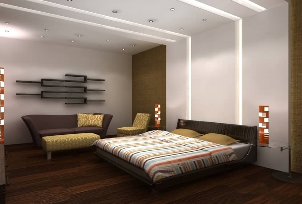 la chambre à coucher principale: Chambre de style de style Moderne par michel bandaly