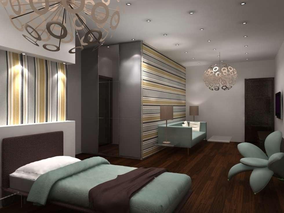 chambre de visiteurs: Chambre de style de style Moderne par michel bandaly