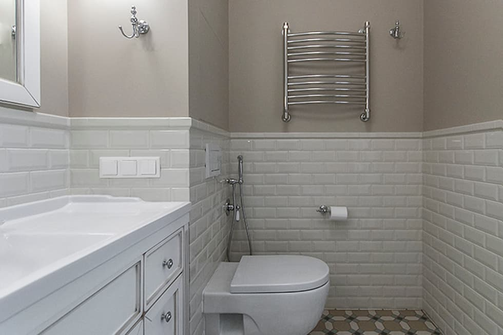 Ванная комната кафель и покраска