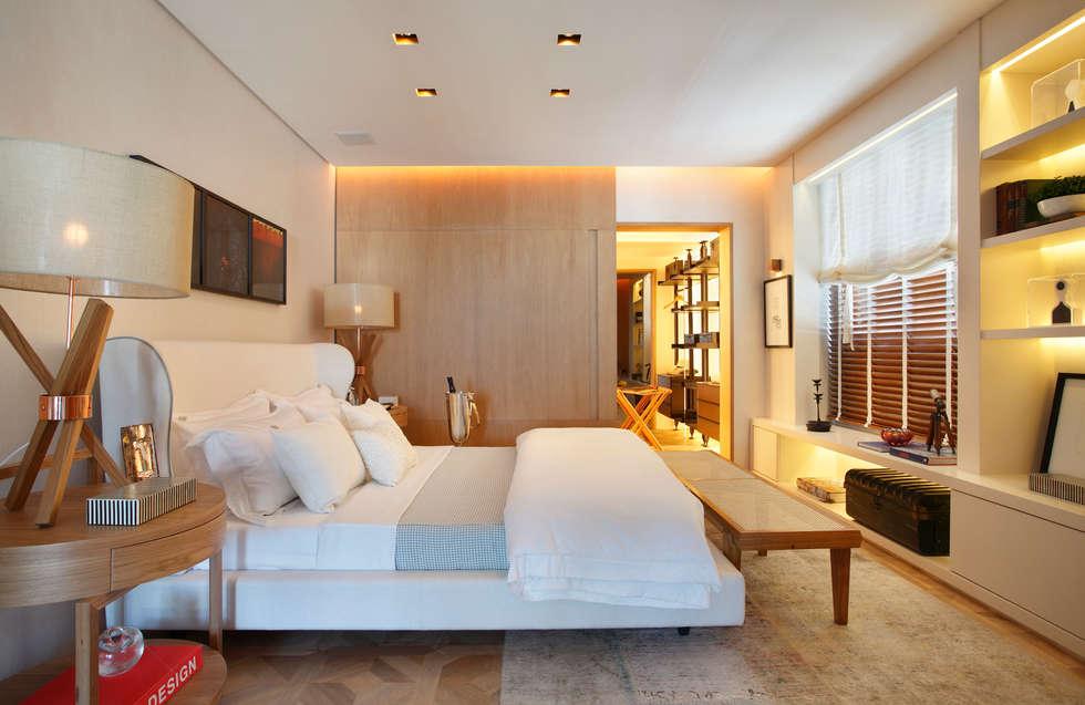 Projekty,  Sypialnia zaprojektowane przez BC Arquitetos