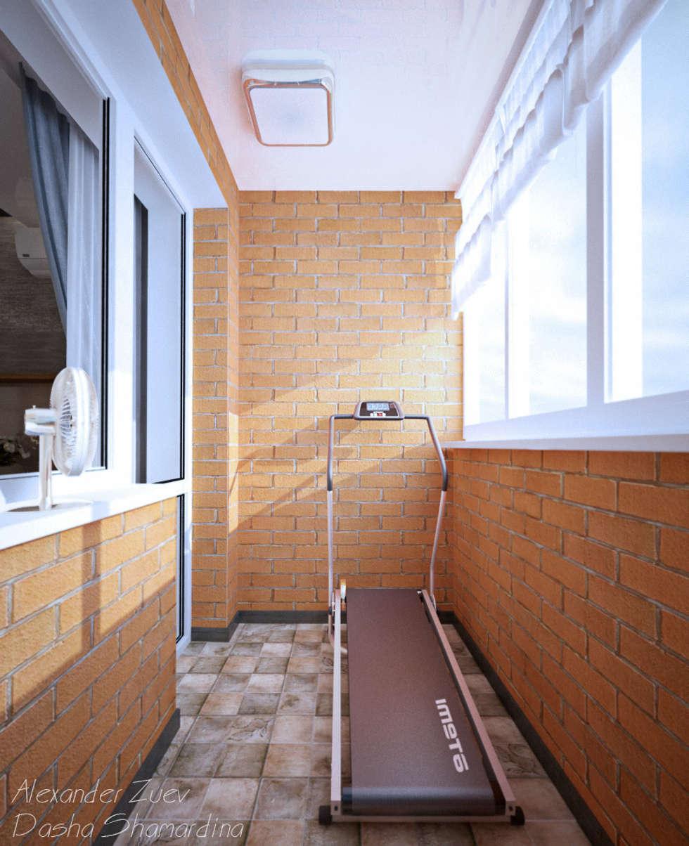 Балкон в стиле лофт камины и печи екатеринбург.