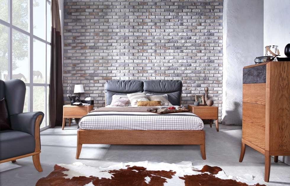 sypialnia Dream Pure dąb amber: styl , w kategorii Sypialnia zaprojektowany przez Swarzędz Home