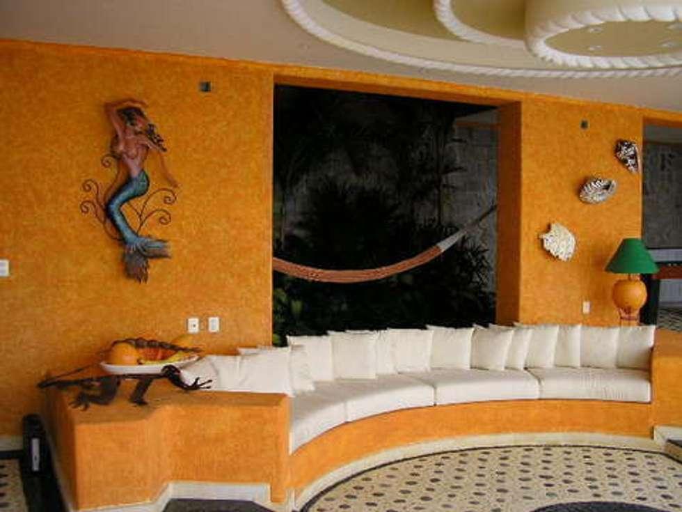 Sala Abierta: Terrazas de estilo  por ARQUELIGE