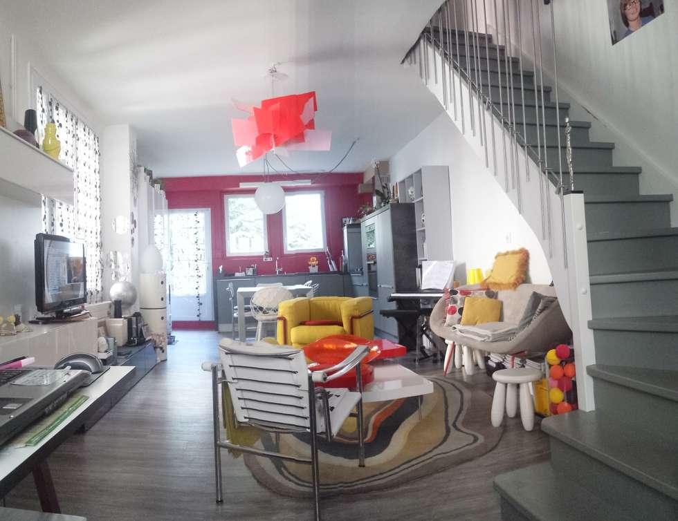Espace à vivre: Salon de style de style Moderne par Christèle BRIER Architechniques