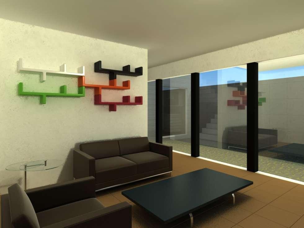 CASA L: Salas de estilo moderno por ODRACIR