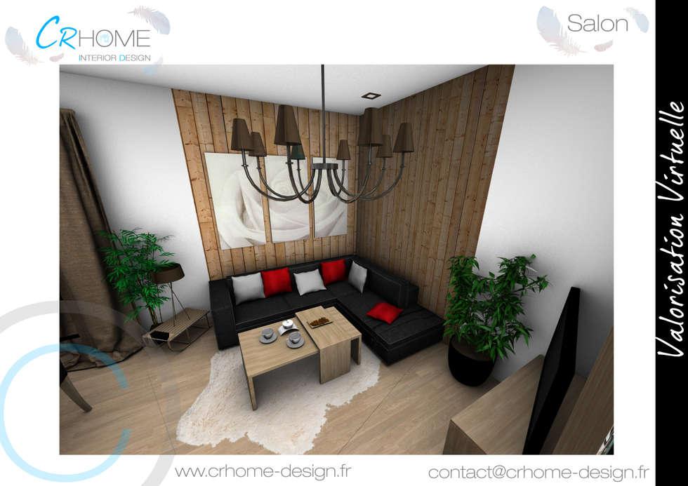 Salon: Salon de style de style Rustique par Crhome Design