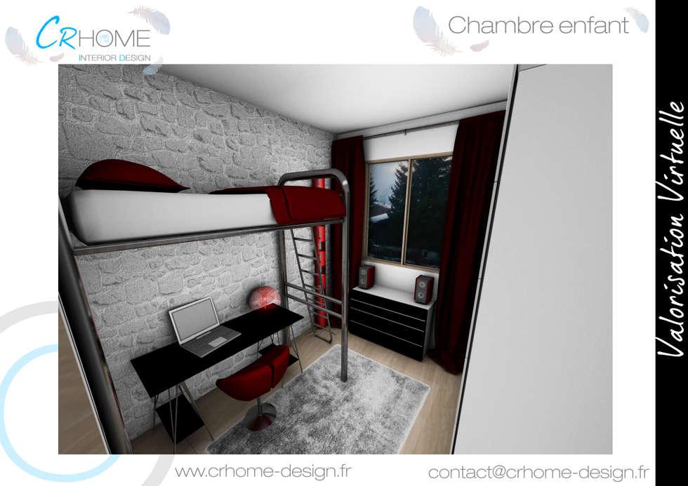 Chambre ado: Chambre d'enfant de style de style Moderne par Crhome Design