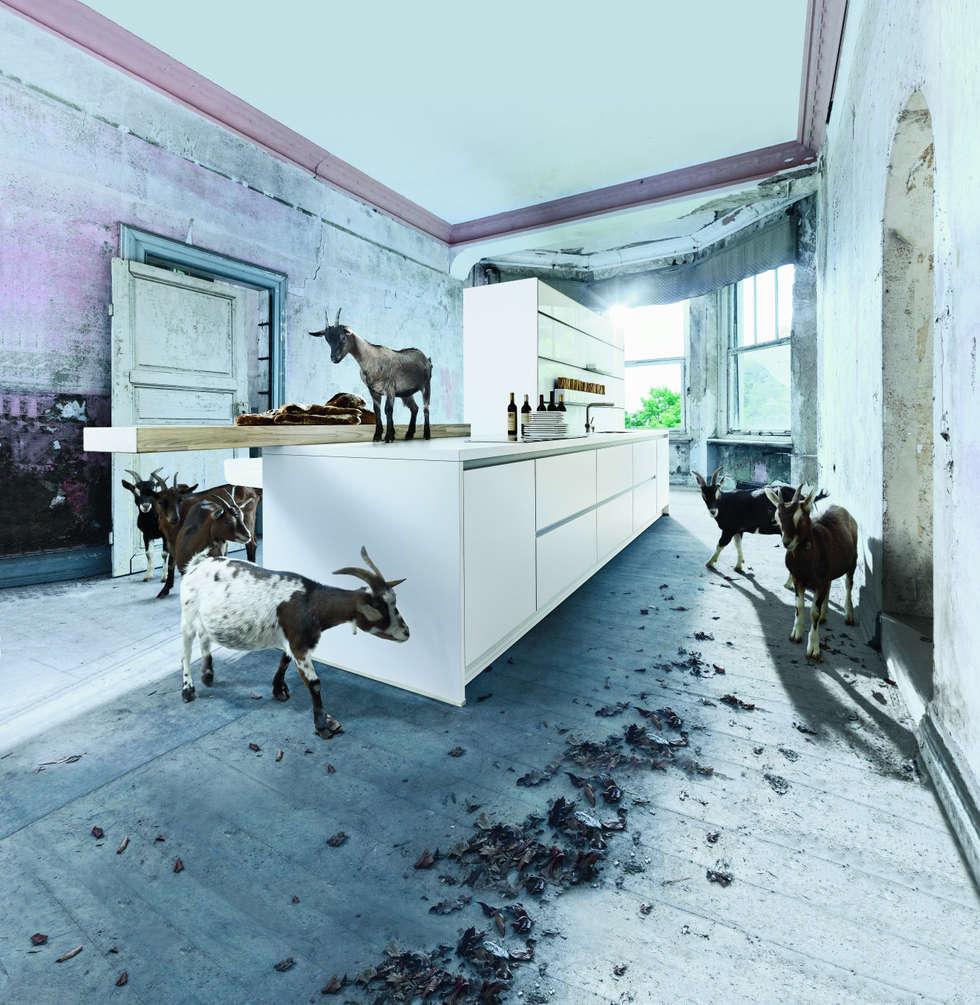Wit kookeiland: moderne Keuken door Tinnemans Keukens