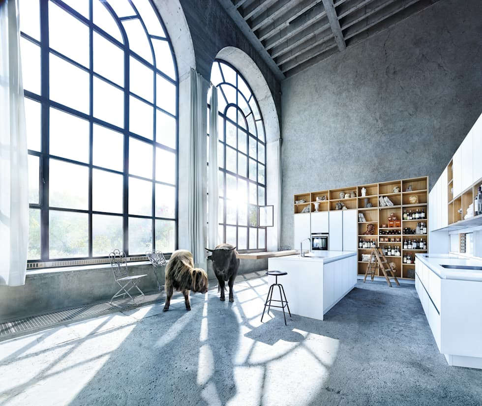 Wit kookeiland Next 125: moderne Keuken door Tinnemans Keukens