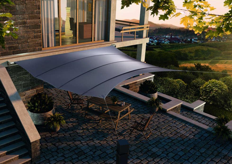 Balcones y terrazas de estilo clásico por derraumhoch3