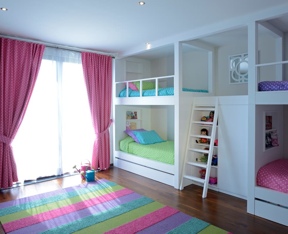 Recamara Infantil Casa GL: Recámaras infantiles de estilo moderno por VICTORIA PLASENCIA INTERIORISMO
