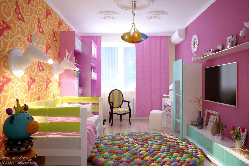 Дизайн интерьера детской комнаты для мальчиков и девочек