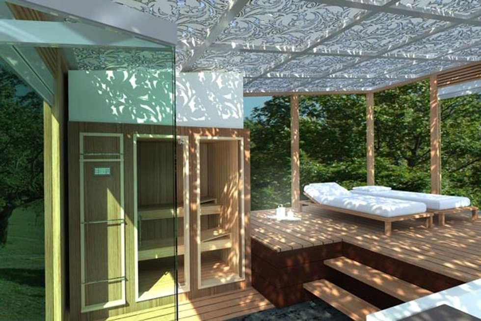 veranda SPA: Spa in stile in stile Moderno di Cagis