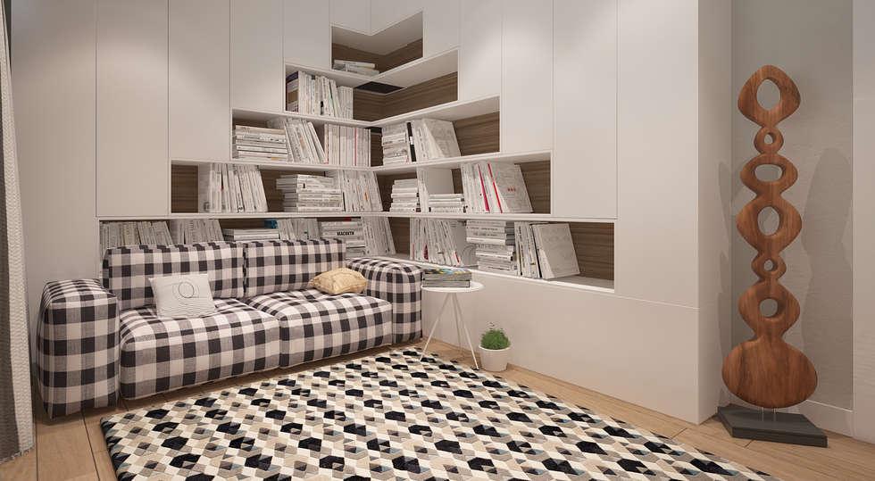 Dom w Puławach: styl , w kategorii Domowe biuro i gabinet zaprojektowany przez FAMM DESIGN