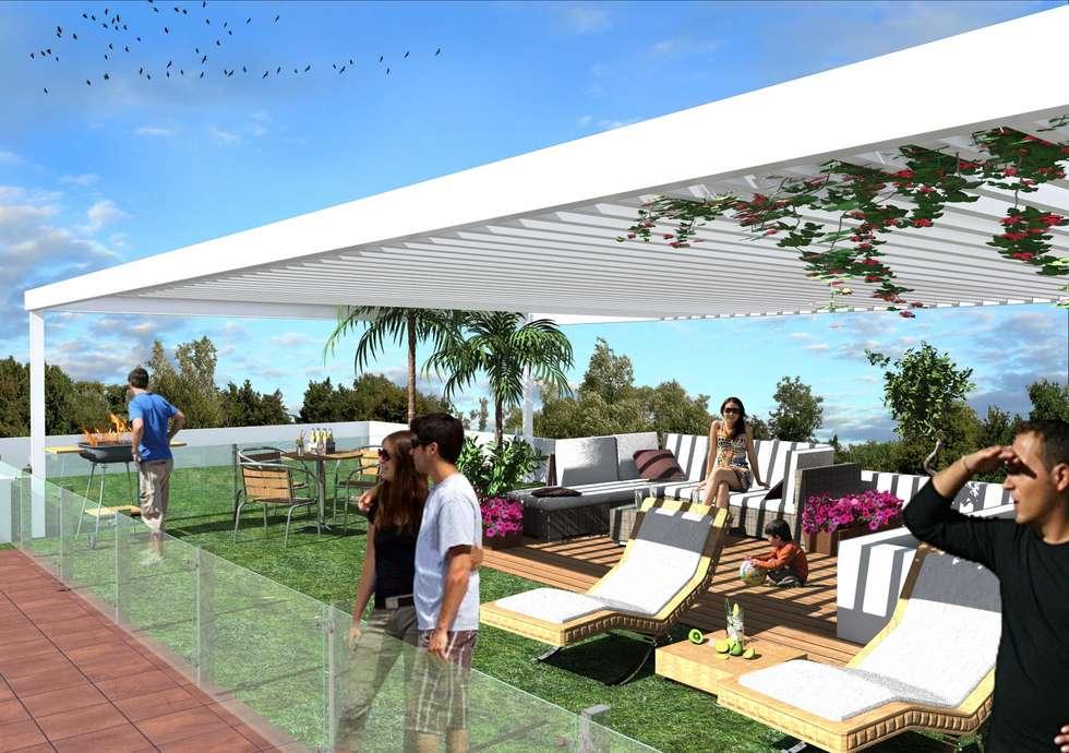 Roof Garden: Terrazas de estilo  por Milla Arquitectos S.A. de C.V.