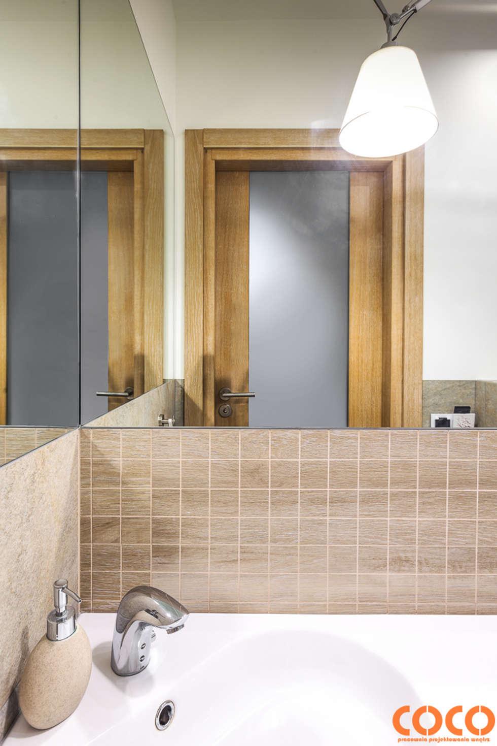 COCO dom naturą malowany: styl , w kategorii Łazienka zaprojektowany przez COCO Pracownia projektowania wnętrz