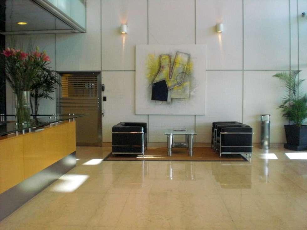 espacio con arte: Estudios y oficinas de estilo moderno por Daniel Vidal