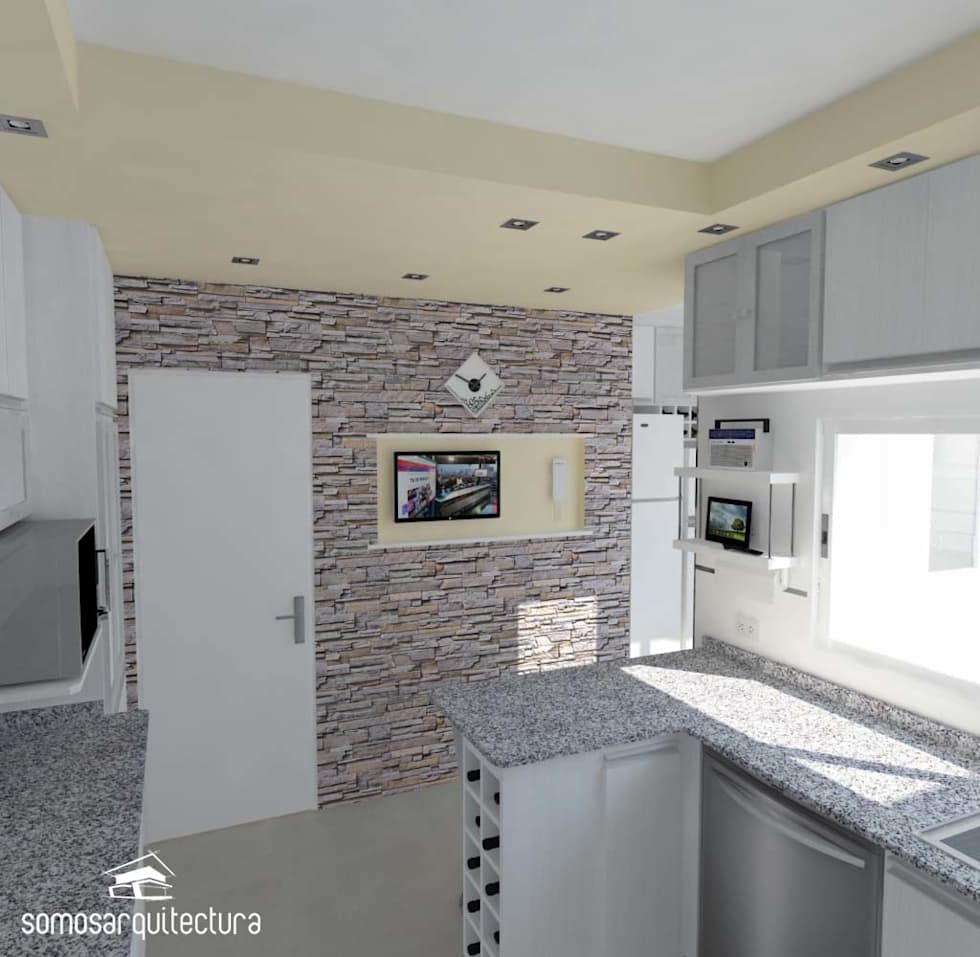Fotos de decora o design de interiores e reformas homify for Planos de cocina con lavadero