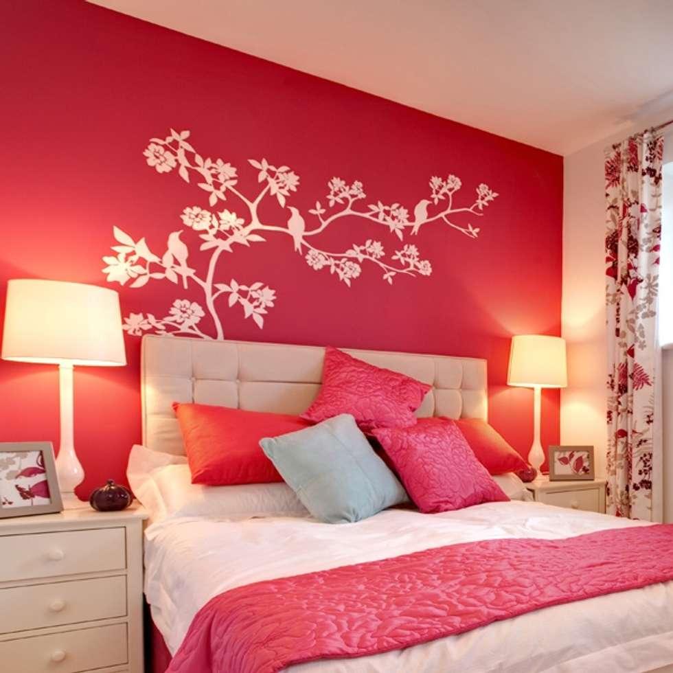 vinilo decorativo rbol con pjaros paredes y suelos de estilo moderno de goodvinilos