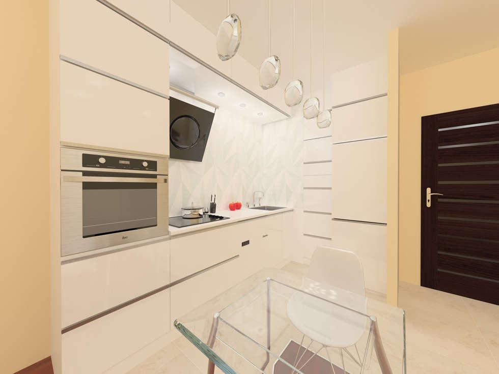 Przeźroczysta kuchnia: styl , w kategorii Kuchnia zaprojektowany przez Katarzyna Wnęk
