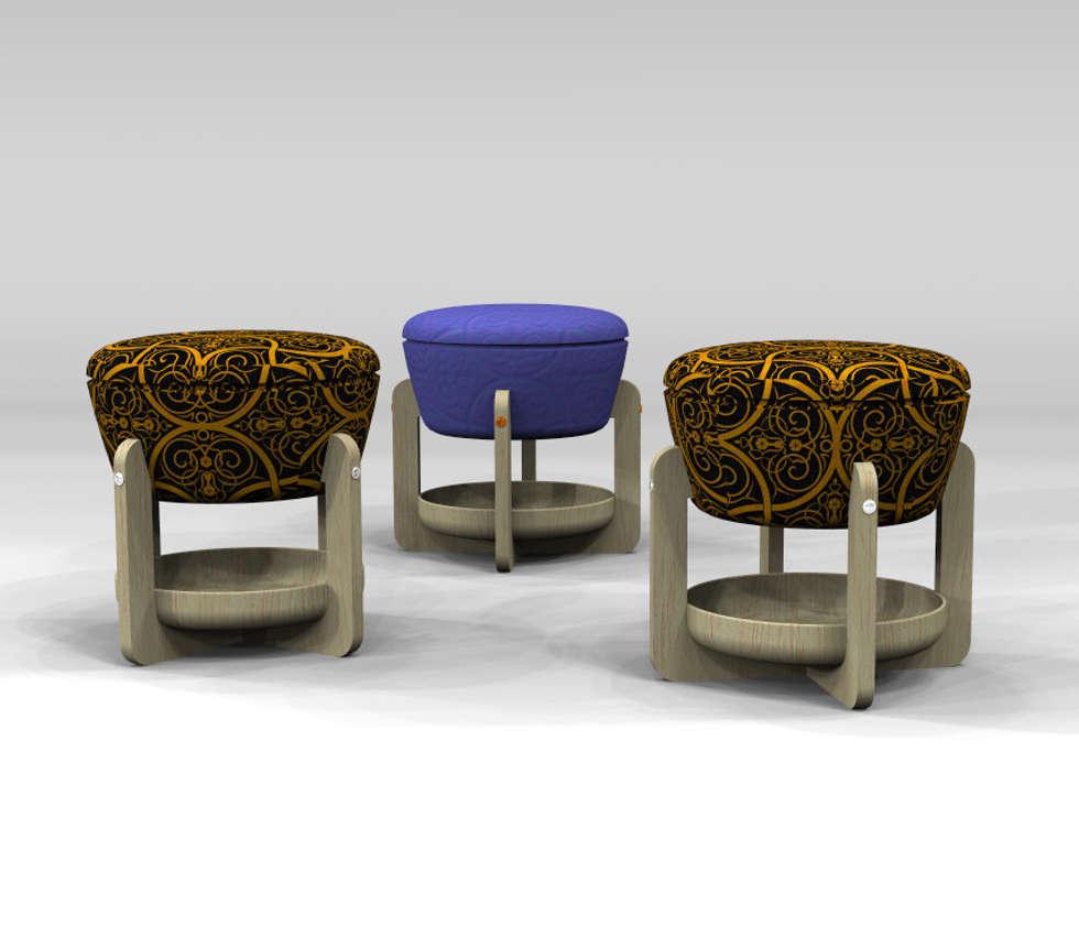 Natuz: Soggiorno in stile in stile Classico di Giovanni Cardinale Designer