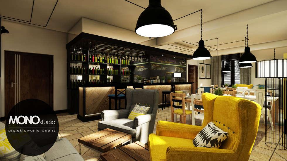 Restauracja  : styl , w kategorii Domowe biuro i gabinet zaprojektowany przez MONOstudio