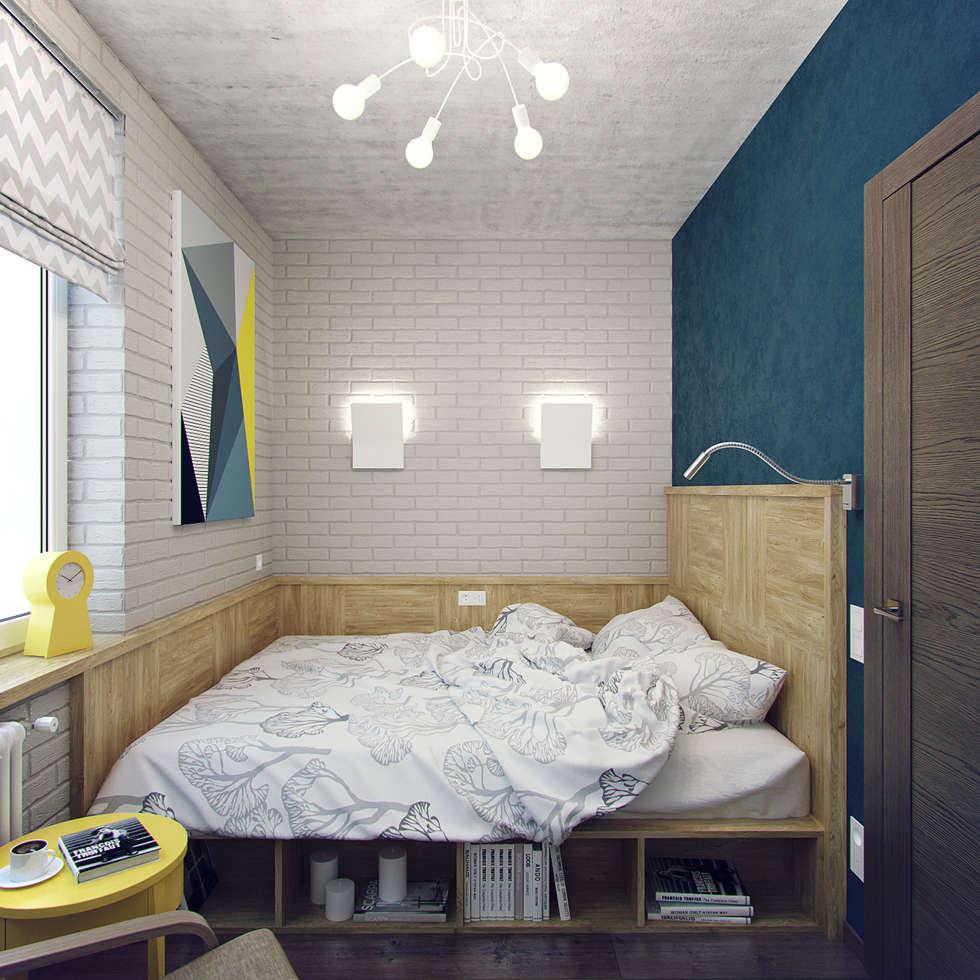 Small apartment for my friend: Спальни в . Автор – Студия дизайна Марии Губиной