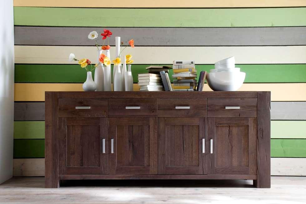 Sideboard Eiche Massiv Räucheröl Optik Braxton: Rustikale Wohnzimmer Von  AMD Möbel Handelsgesellschaft MbH U0026 Co