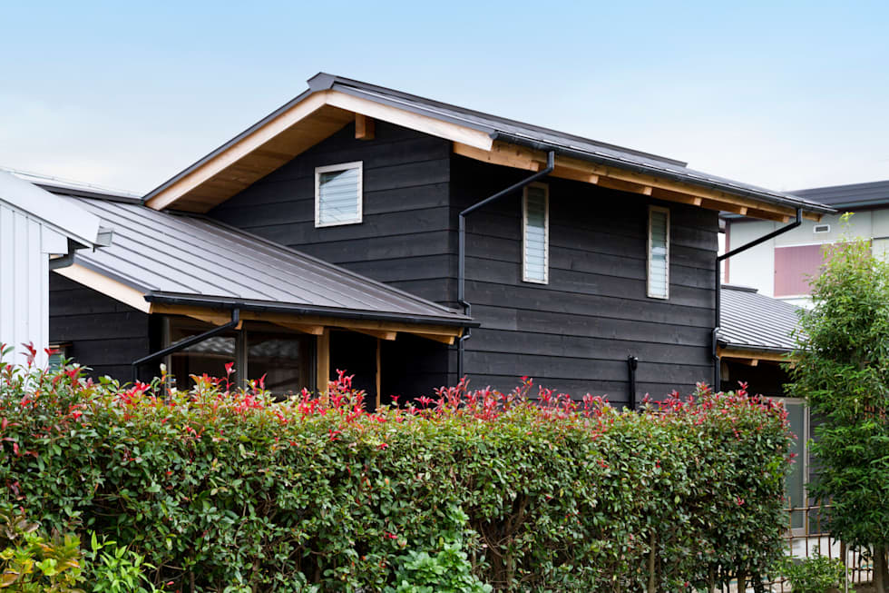 Casas de estilo asiático por shu建築設計事務所