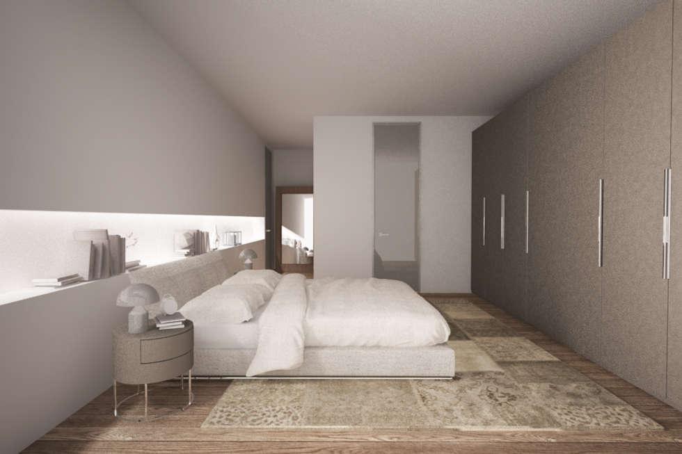 Interior Design: la camera da letto - l'arredo: Camera da letto in stile in stile Moderno di Emmeti Srl