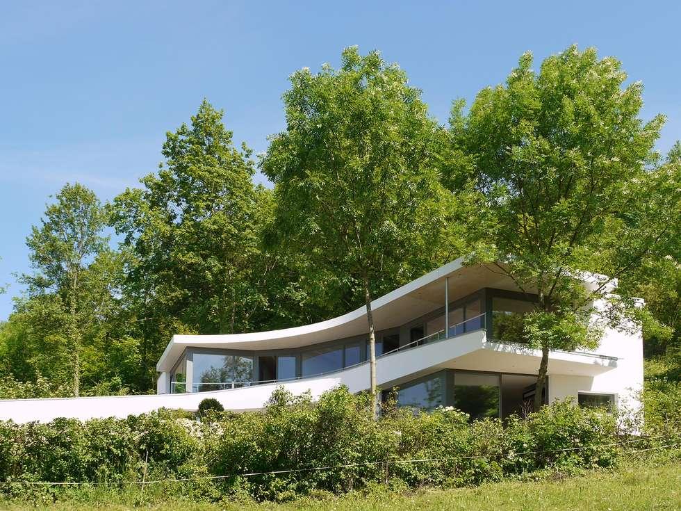 boom fassade moderne h user von k2 architekten gbr homify. Black Bedroom Furniture Sets. Home Design Ideas