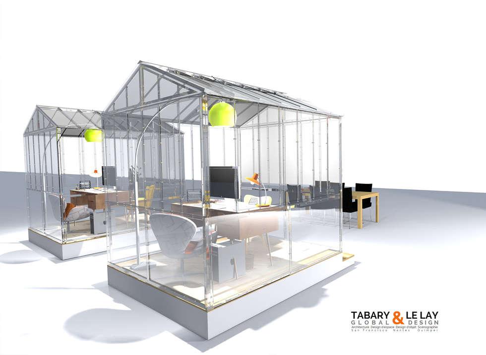 l'invisible petite serre de Nantes: Bureau de style de style Moderne par Tabary Le Lay