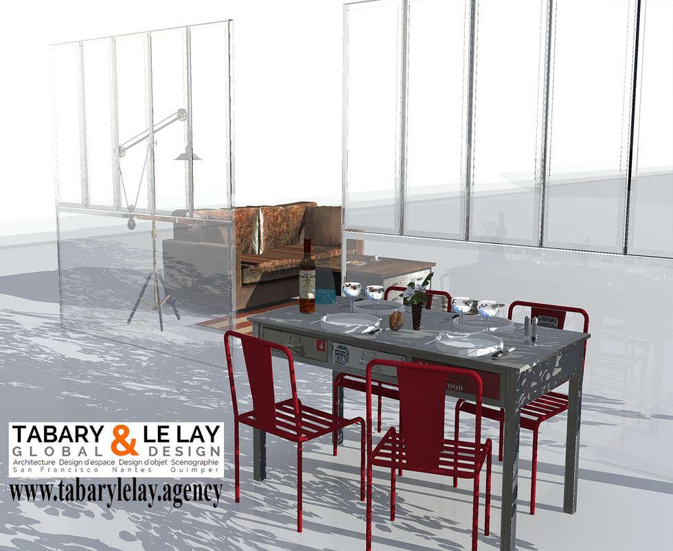 l'invisible verrière: Cuisine de style de style eclectique par Tabary Le Lay