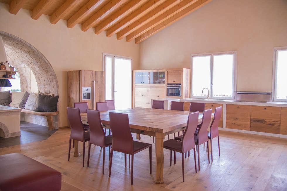 Sala Da Pranzo Rustica : Villa rustica: sala da pranzo in stile in stile rustico di ri novo