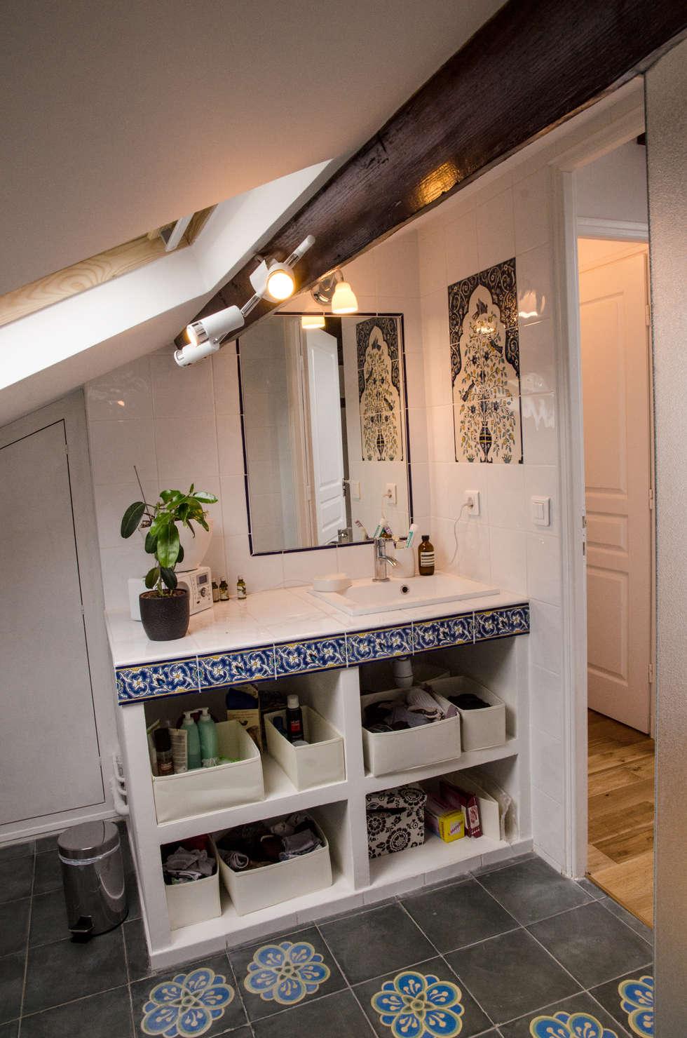 Les lavabo et son plan de travail : Salle de bains de style  par Sophie Embs
