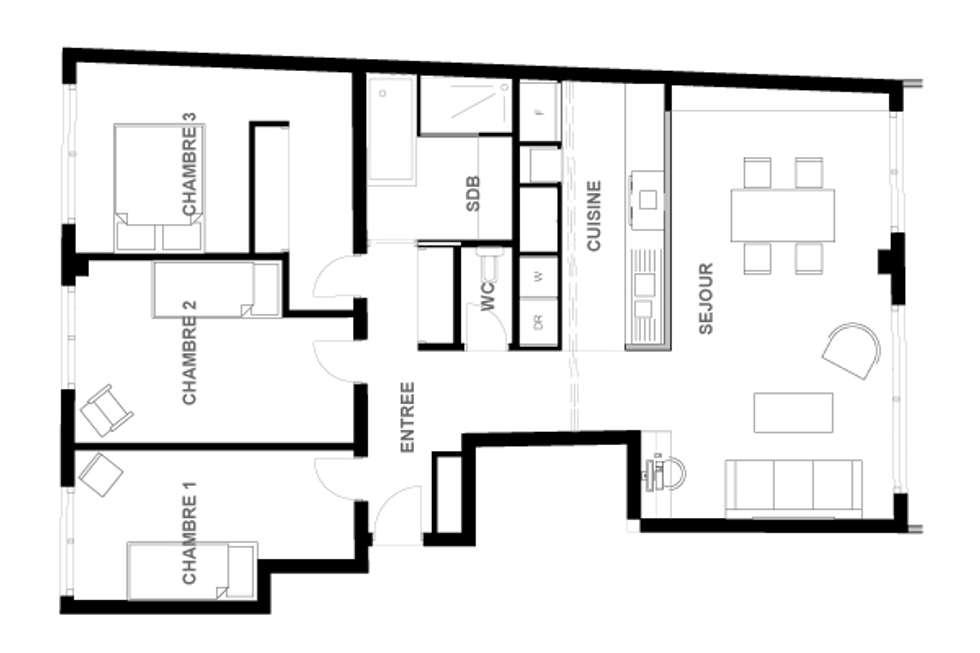 Plan de l'appartement Version 2: Cuisine de style de style Moderne par Dem Design