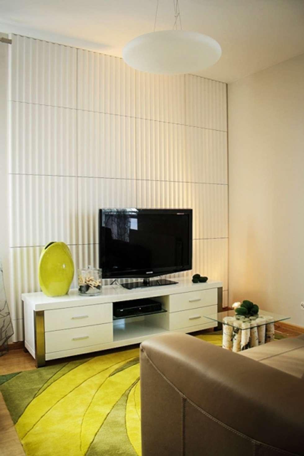 Panele gipsowe 3D Loft Design System, Dekory 11-20: styl , w kategorii Ściany zaprojektowany przez DecoMania.pl