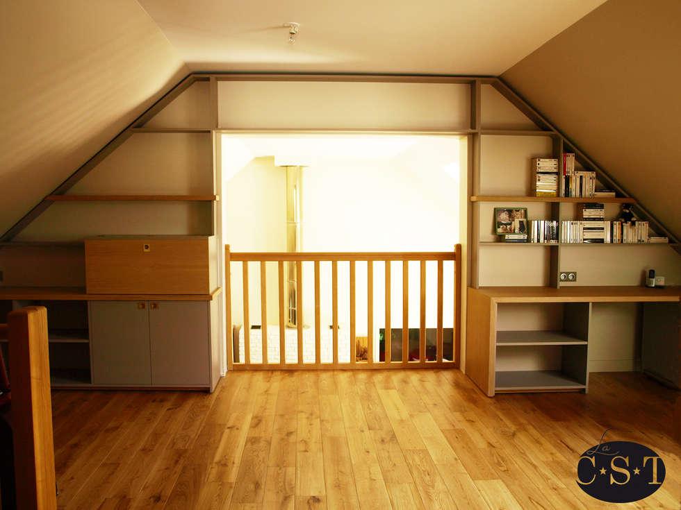 agencement de combles bureau de style de style classique par la c s t homify. Black Bedroom Furniture Sets. Home Design Ideas