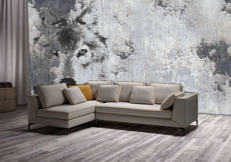 Wolf Spirit grey: Pareti in stile  di PIXIE progetti e prodotti