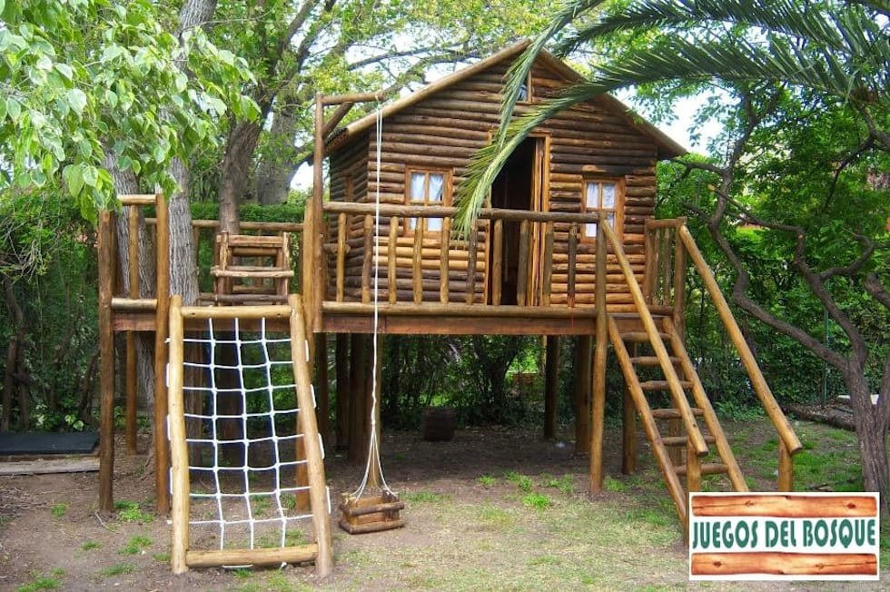 juegos y casitas para nios jardines de estilo rstico por juegos del bosque
