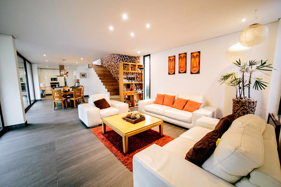 Salas / recibidores de estilo minimalista por gOO Arquitectos