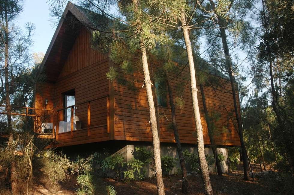 3 anos depois... Casa em Cabeça Santa: Casas rústicas por NORMA | Nova Arquitectura em Madeira (New Architecture in Wood)